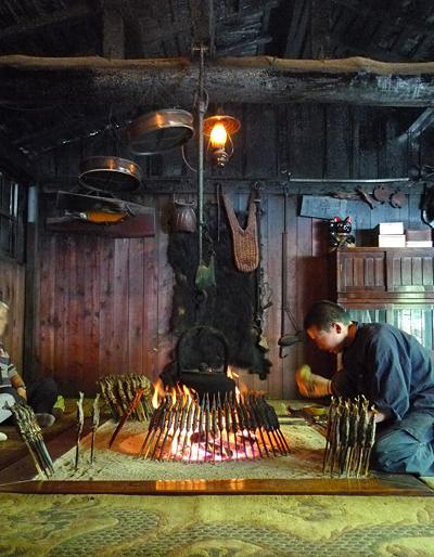 Grilled IWANA fish in Kamikochi, Nagano