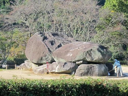 'Ishibutai-kofun' in Asuka village,Nara Prefecture is the oldest square-shaped burial mound in Japan.