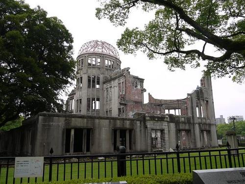 In the morning, on August 6, 1945, the world's first atomic bomb detonated at the altitude of 600 meters above the 'Genbaku Domu', Atomic Bomb Dome, in Hiroshima.