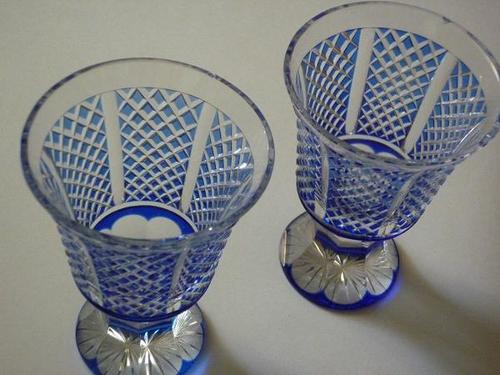 'Kiriko' means a cut glass put in production in present Kagoshima City in Kyushu and Tokyo in the middle of the 19th century; the former is called 'Satsuma-kiriko', the latter 'Edo-kiriko'.
