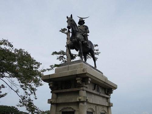 'Date Masamune', the first feudal lord of the Sendai domain, was called one-eyed hero as he had lost the sight of his right eye in his childhood because of smallpox.