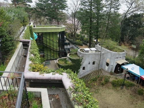 'Ghibli Museum, Mitaka', covered with the green of 'Inokashira Park' in the suburbs of Tokyo, features the world of 'Hayao Miyazaki'.