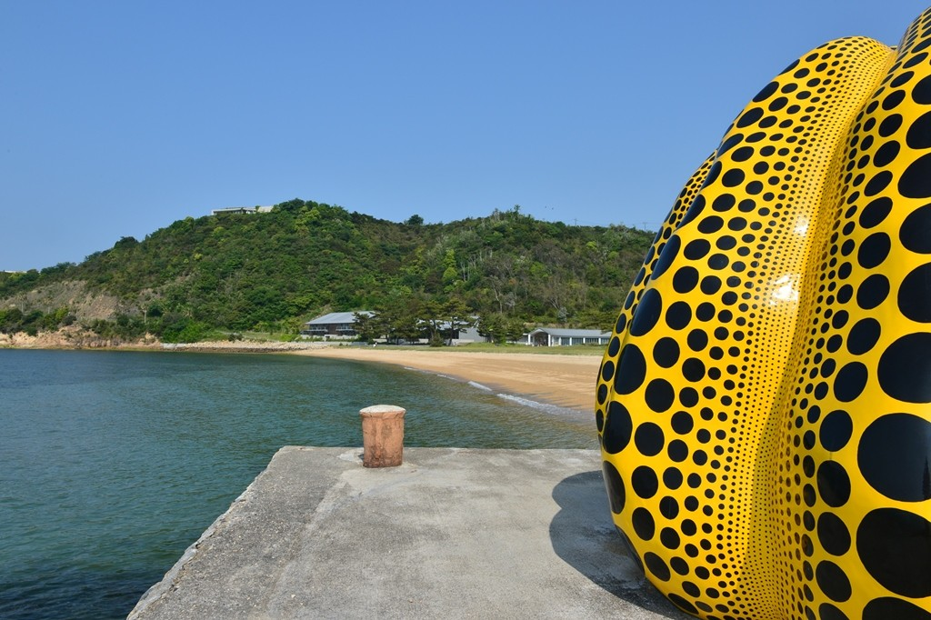 Artwork at Naoshima Benesse House