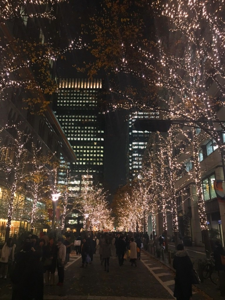Holiday Lights near Tokyo Station