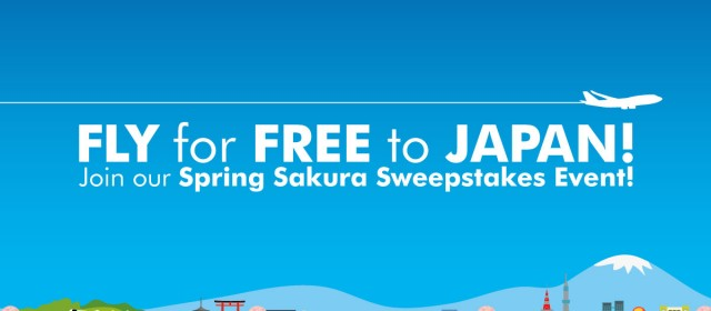FLY FOR FREE WITH JTB: Spring Sakura Sweepstakes Event!